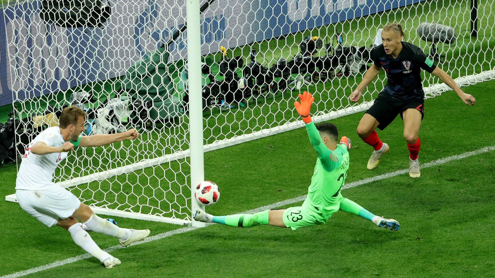 croatia england - harry kane danijel subasic domagoj vida - world cup - 11072018