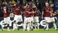 Milan celebrating Betis Milan Europa League
