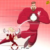 Cartoon Alisson to Liverpool
