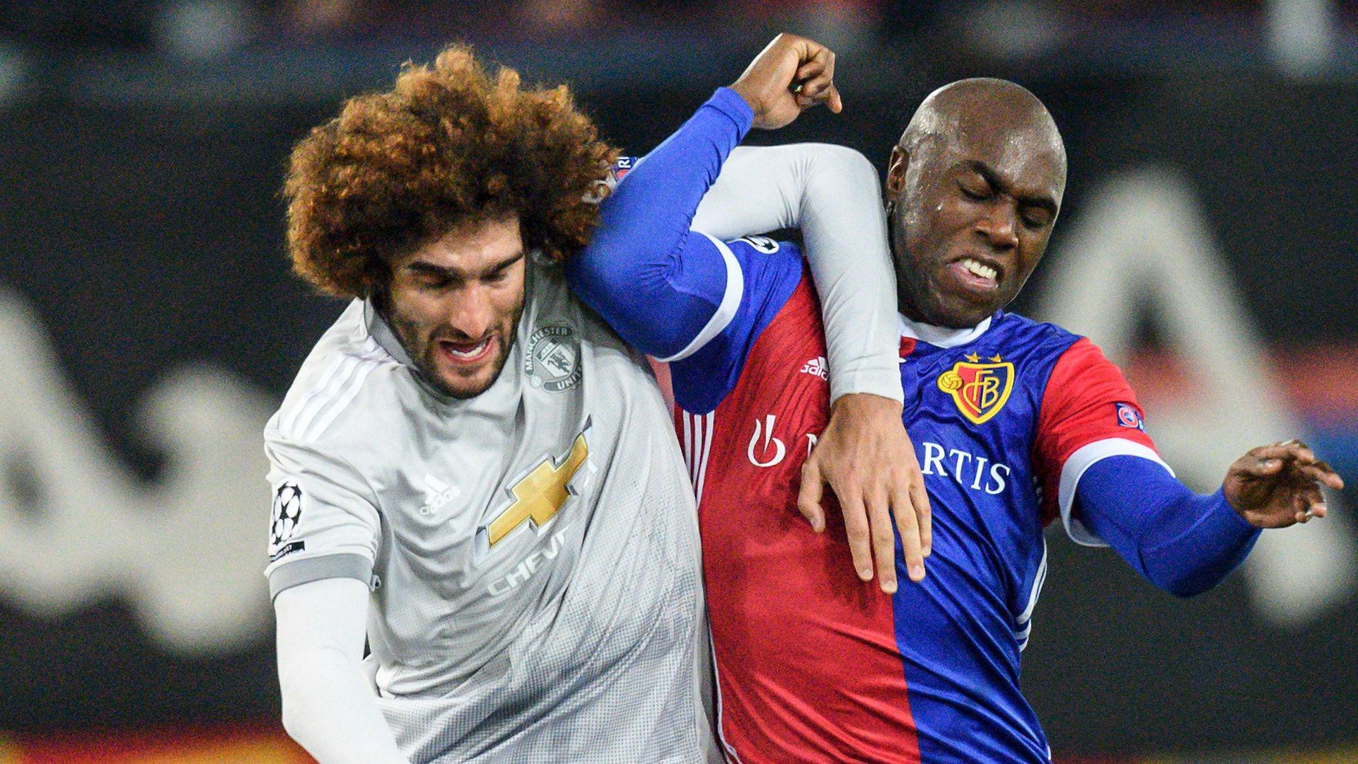 Marouane Fellaini Eder Balanta Manchester United Basel Champions League