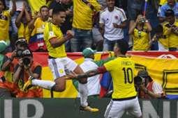 James Rodríguez & Radame Falcao Colombia vs Brasil 2017