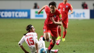 Koo Ja-cheol, Alaa Al Shbli, South Korea vs Syria