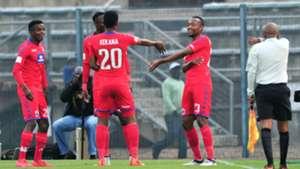 SuperSport United players Teboho Mokoena, Grant Kekana & Thabo Mnyamane