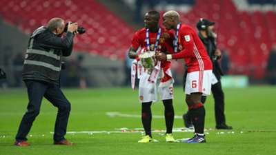 Eric Bailly Paul Pogba Manchester United with League Cup
