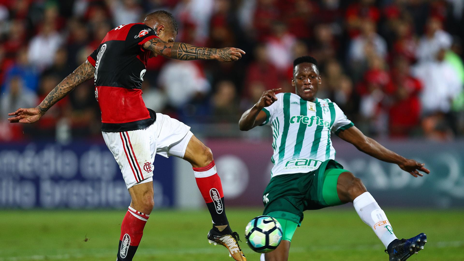 Yerry Mina Paolo Guerrero Palmeiras Flamengo Brasileirao Serie A 19072017