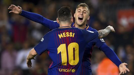 Lionel Messi Gerard Deulofeu Barcelona