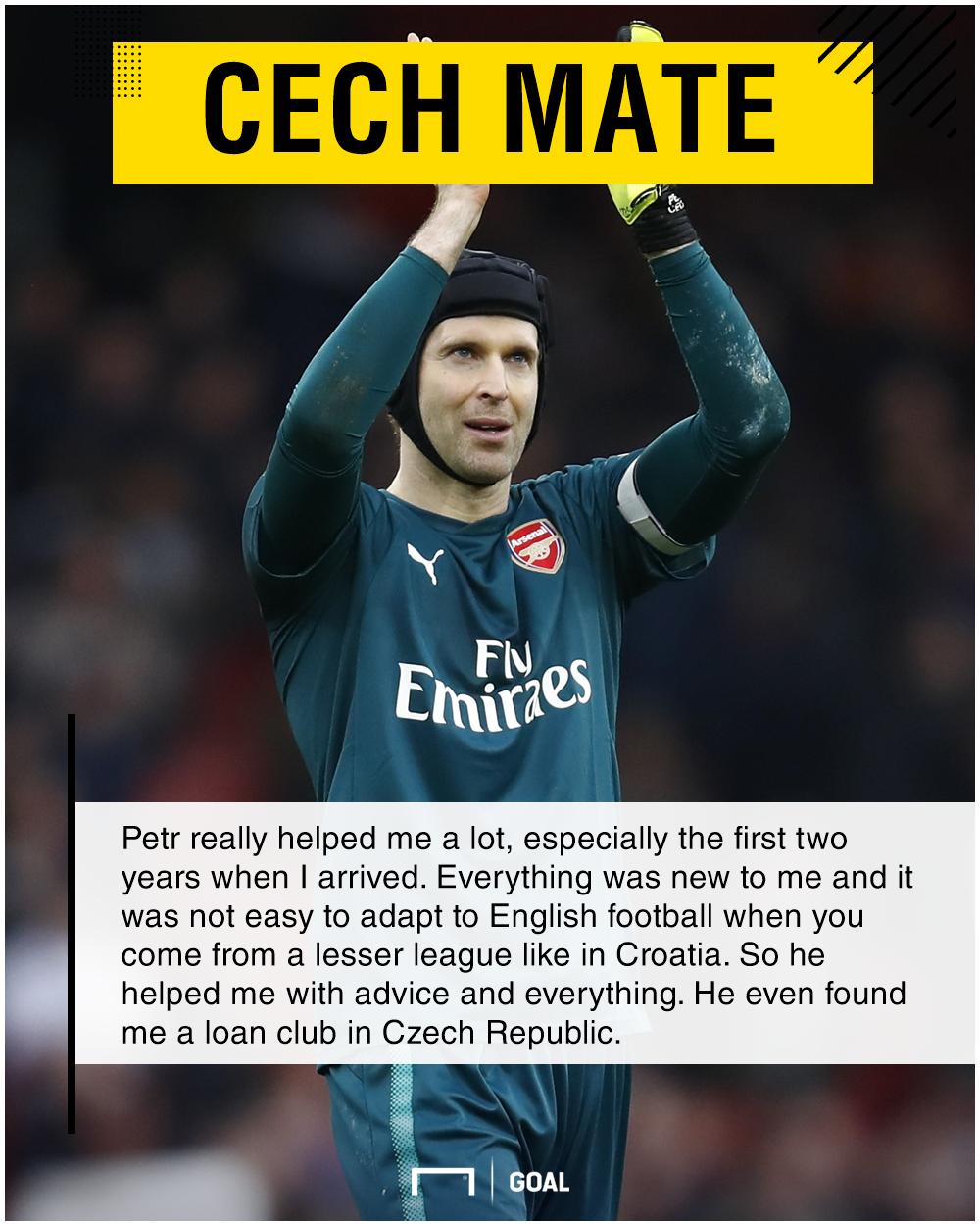 Matej Delac Petr Cech support