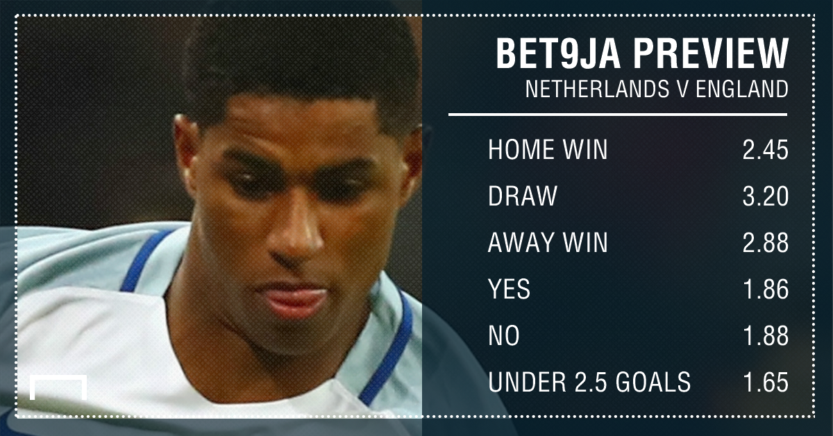 Bet9ja Preview: Netherlands v England: Expect a low-scoring