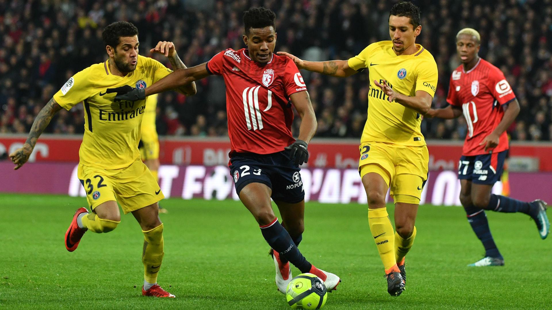 Thiago Mendes Daniel Alves Lille PSG Ligue 1 03022018