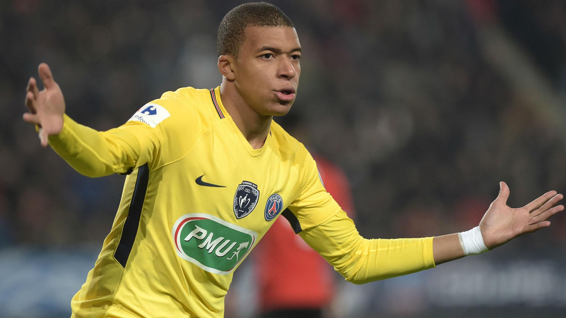 Kylian Mbappe Rennes PSG Coupe de France 07012018