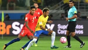 101017 WCQ South America Neymar Erick Pulgar Chile Brasil Brazil