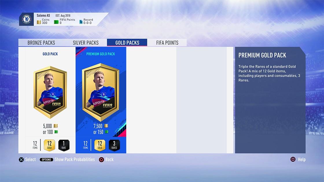 FIFA 19 Packs