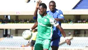 Francis Mustafa of Gor Mahia v New Star of Cameroon.