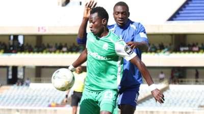 Francis Mustafa of Gor Mahia v New Star of Cameroon.