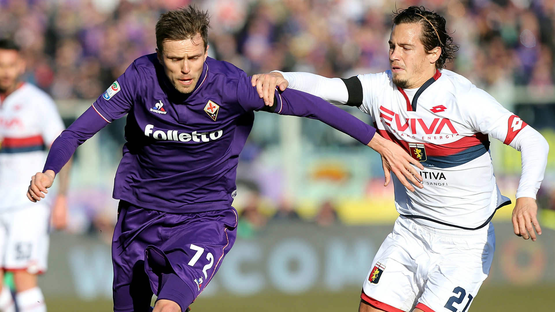 Josip Ilicic Lucas Orban Fiorentina Genoa Serie A