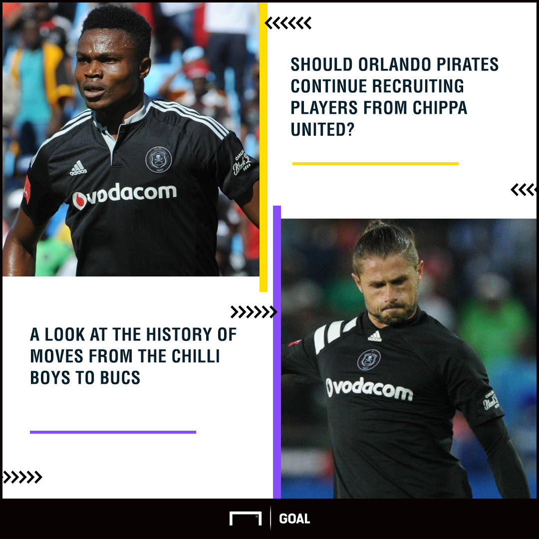 Chippa United & Orlando Pirates players