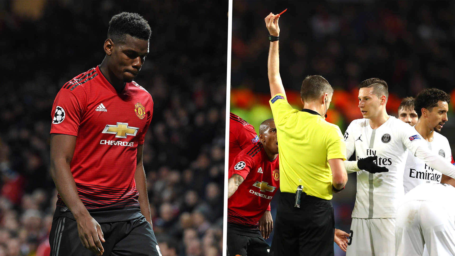 Paul Pogba red card composite