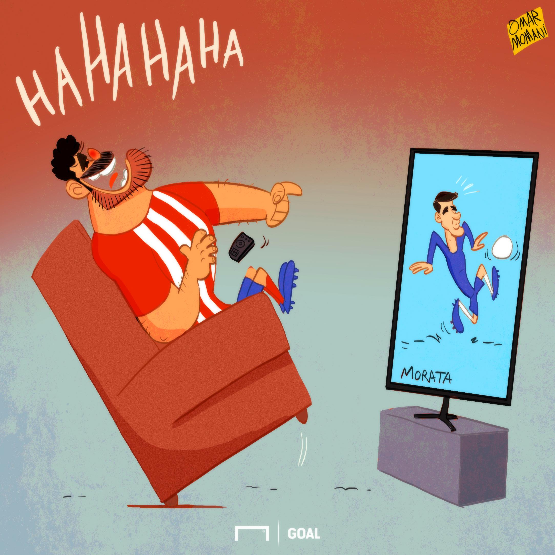 CARTOON: Costa cackles at Morata