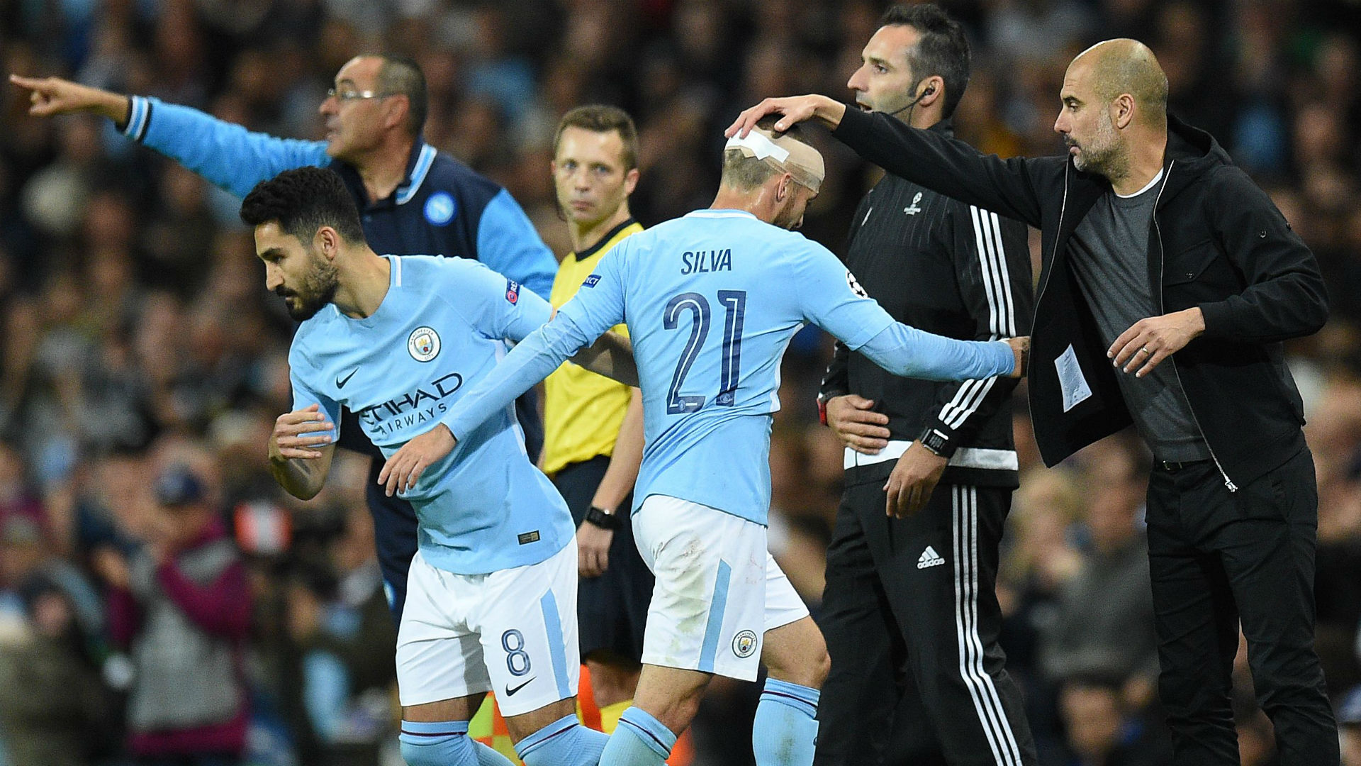 Manchester City substitution