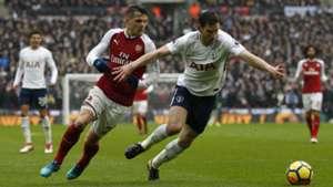 Granit Xhaka, Jan Vertonghen - Tottenham Hotspur v Arsenal