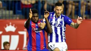 Samuel Umtiti Edgar Mendez Barcelona Alaves Copa del Rey 27052017