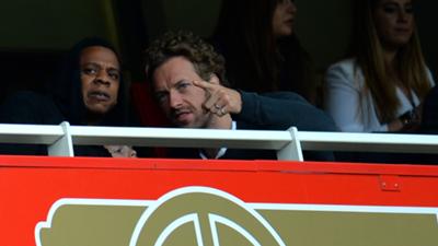 Jay-Z Chris Martin Arsenal 2013