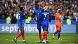 Lemar Pogba Griezmann France 30082017