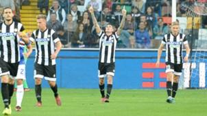 Udinese celebrates Sampdoria Serie A