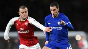 Jack Wilshere Eden Hazard Arsenal Chelsea