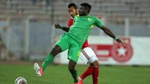 Raphael Ayagwa of Plateau United vs. Etoile du Sahel's Hamza Lahmar