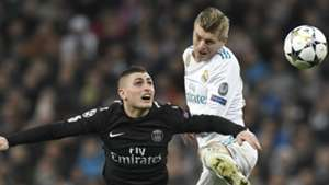 Toni Kroos Marco Verratti Real Madrid PSG Champions League 14022018