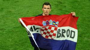 croatia england - mario mandzukic celebration - world cup - 11072018
