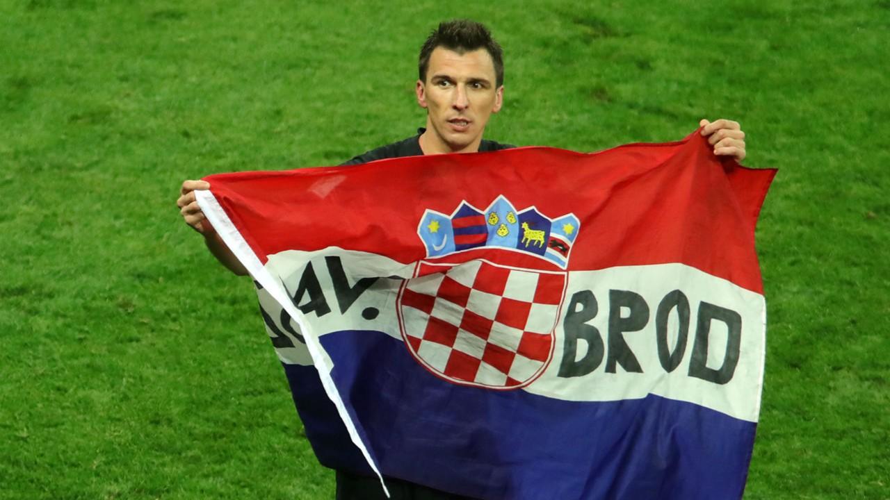 croatia england - mario mandzukic celebration - world cup - 11072018