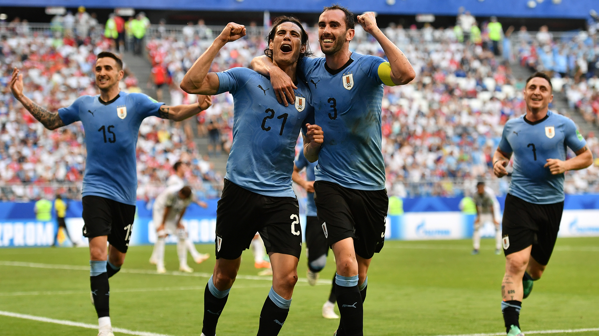 Edinson Cavani scores twice as Uruguay ousts Cristiano Ronaldo and Portugal
