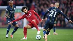 Liverpool Manchester City Salah David Silva 07102018