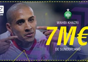 Wahbi Khazri - De Sunderland à Saint-Etienne - 7 M€ (estimation) 4 ans