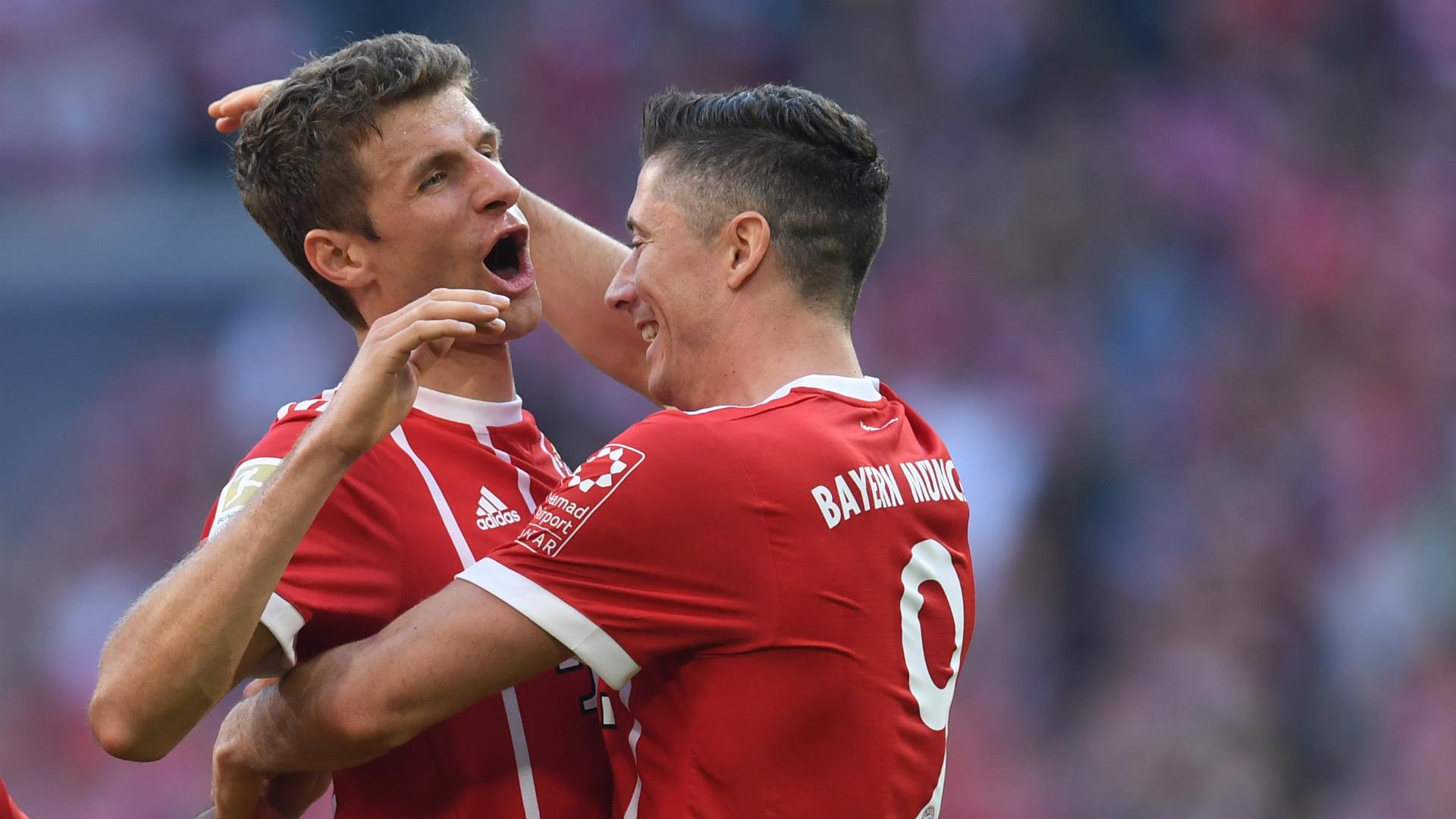 Robert Lewandowski Thomas Muller Bayern Munich