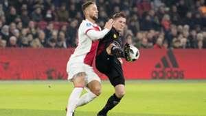 Mitchell Dijks, Jinty Caeanepeel, Ajax - Excelsior, Eredivisie 12142017