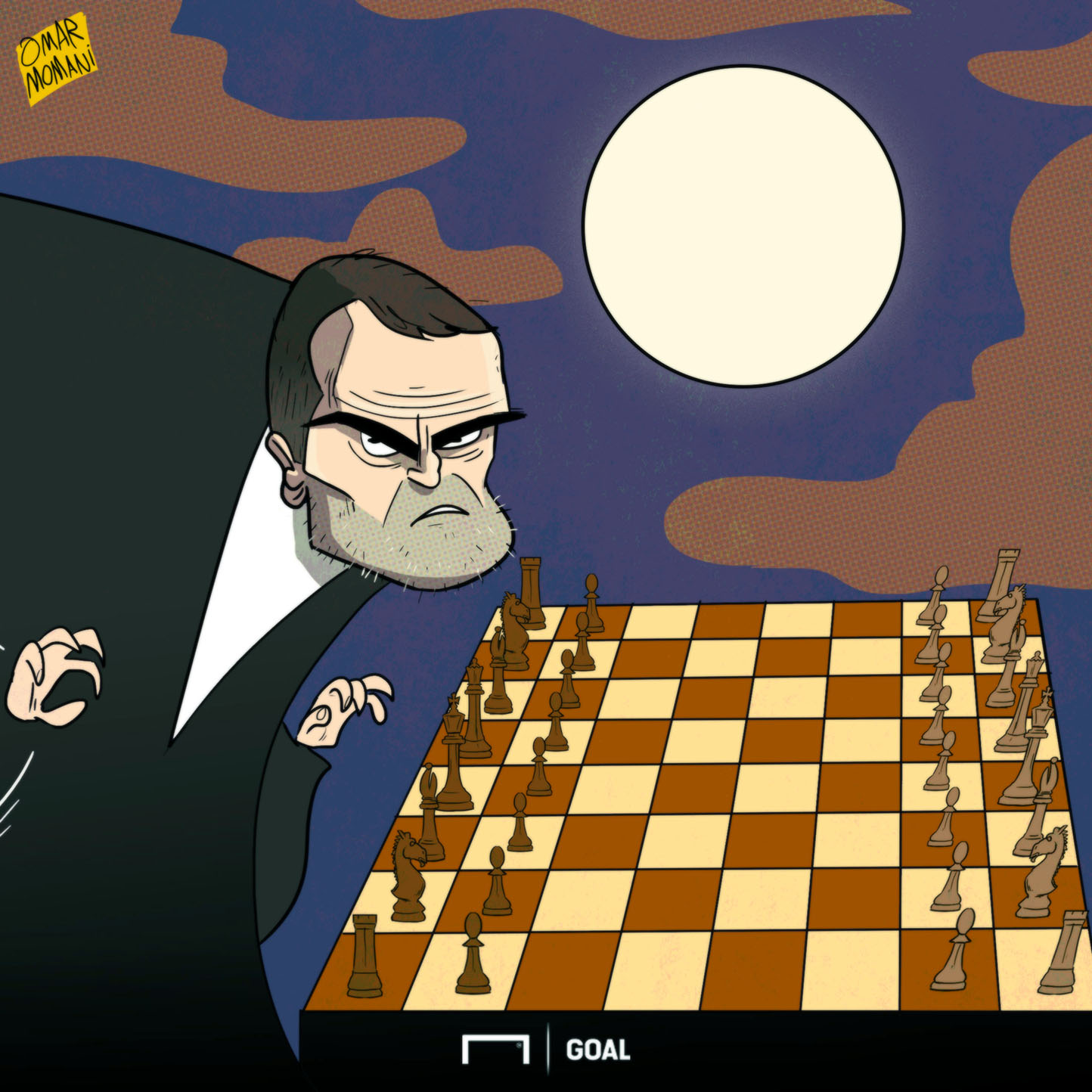 CARTOON Roy Keane Chess