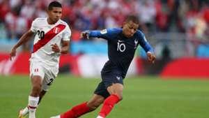 Kylian Mbappe Edison Flores France Peru World Cup 2018 21062018
