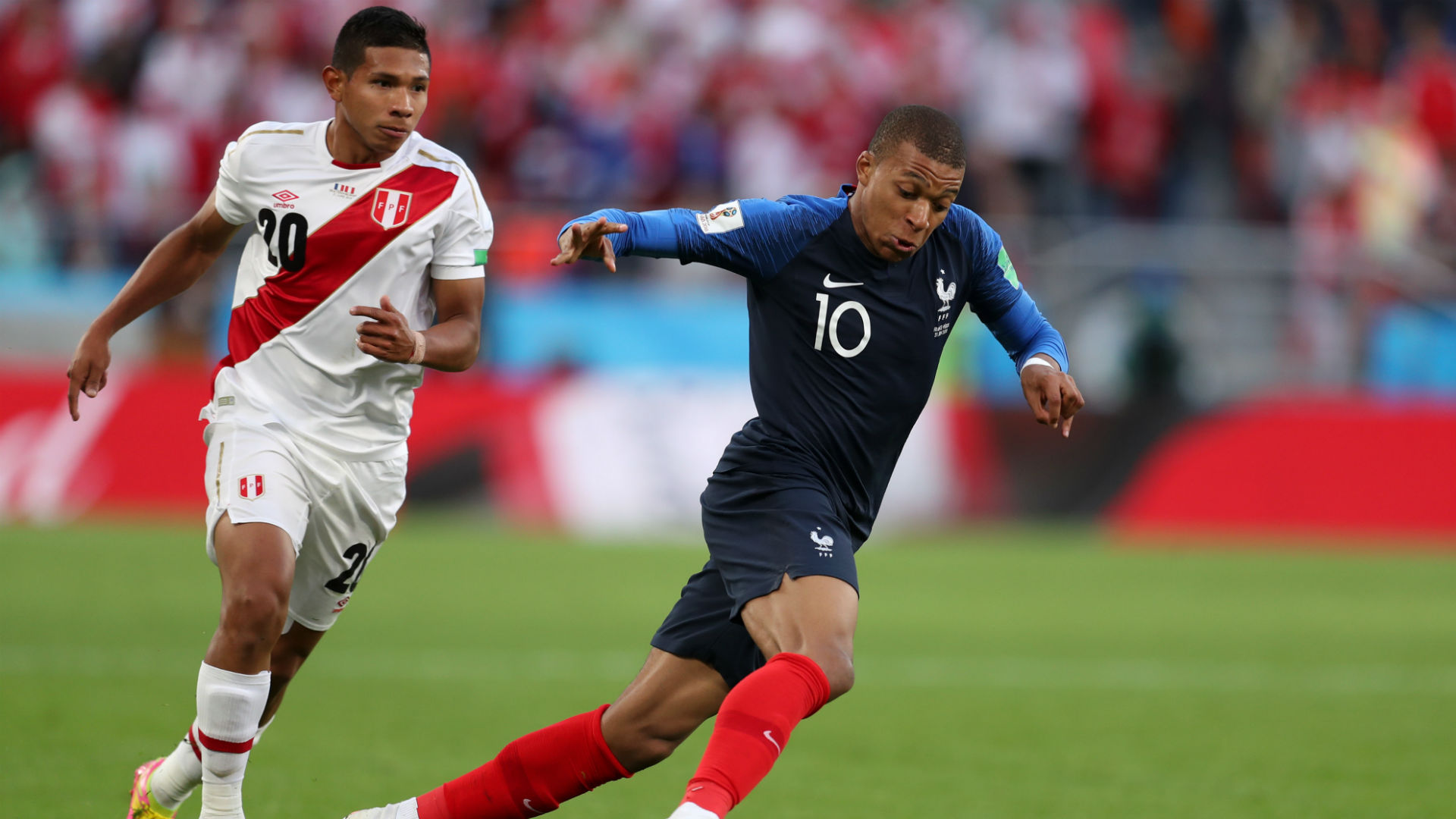 Kylian Mbappe Edison Flores France Peru World Cup 2018 21062018