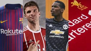 IN PICTURES : ส่องชุดแข่งใหม่ทีมยุโรปฤดูกาล 2017-18