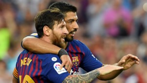Lionel Messi Luis Suarez Barcelona Huesca LaLiga 02092018