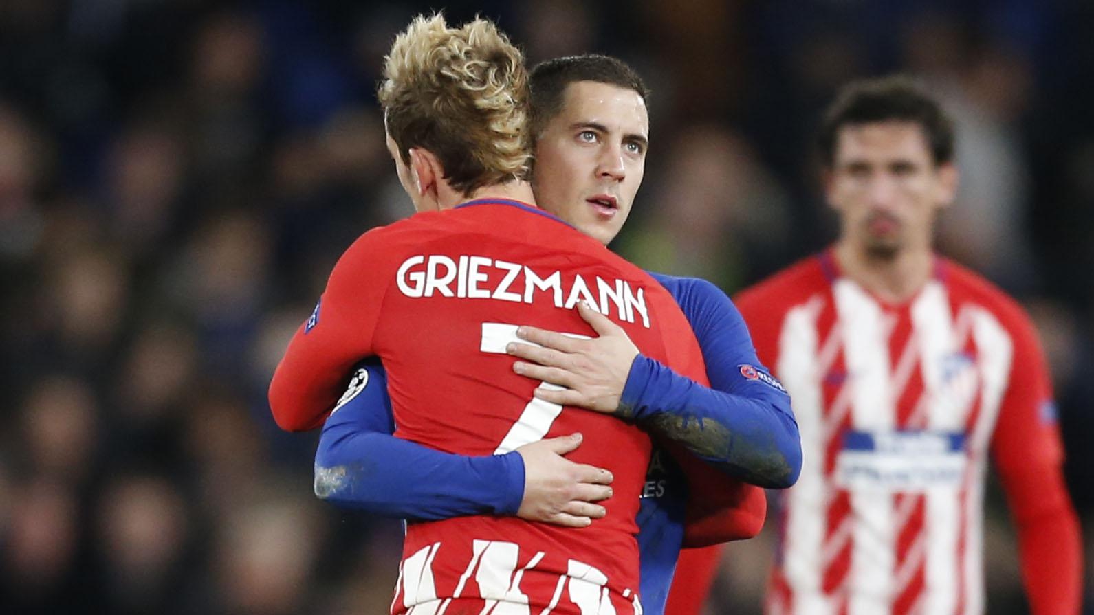 Eden Hazard Antoine Griezmann Chelsea Atletico Madrid