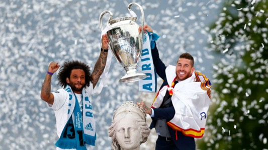Marcelo Sergio Ramos Real Madrid Champions League trophy 2018