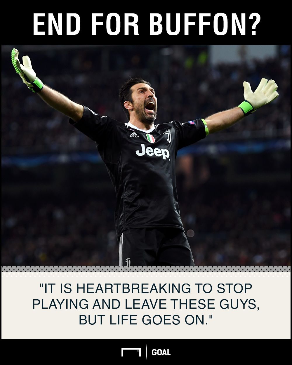 Gianluigi Buffon retire heartbreaking