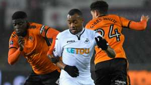 Jordan Ayew Swansea City Wolves