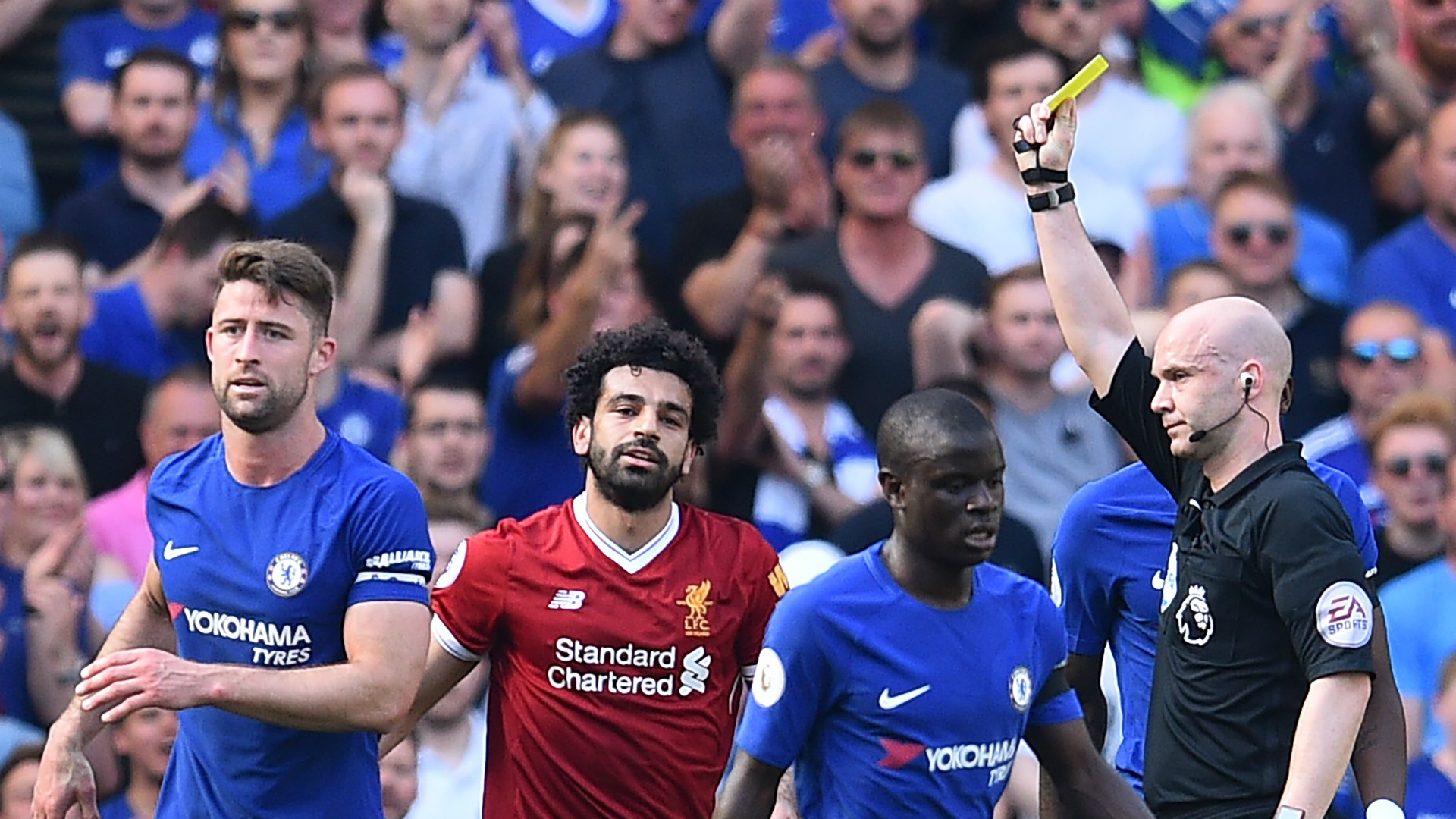 Mohamed Salah Yellow Card Liverpool Chelsea Premier League