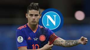 James Rodriguez, Colombia, Napoli Logo