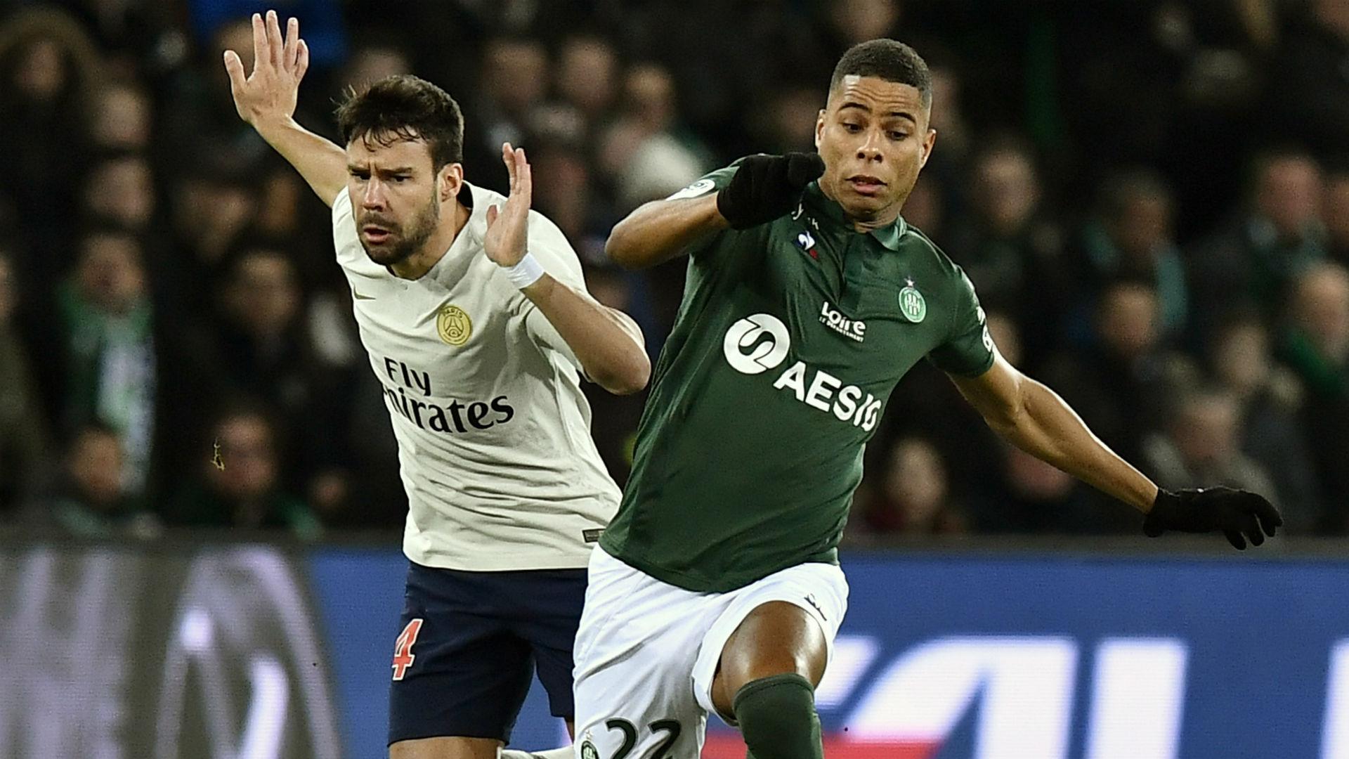 Juan Bernat Kevin Monnet-Paquet Saint-Etienne PSG Ligue 1 17022018